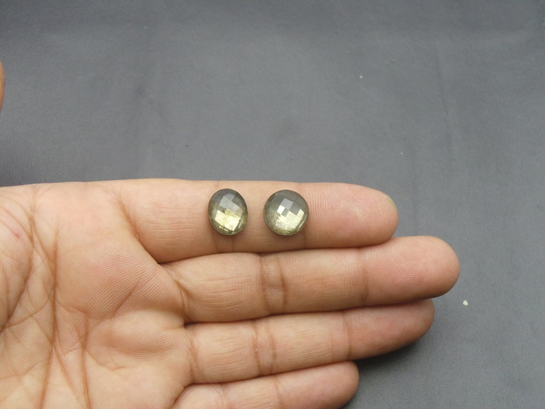 Pyrite And Crystal Doublet Mix Shap One Side Chacker Cut Cabochons Pyrite And Crystal Doublet Loose Gemstone-AAA Quality-12 MM JC-5339