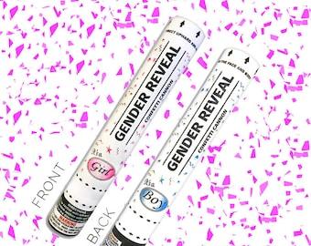 Ships Same Day Sale! 12 Inch Confetti Cannon Gender Reveal Confetti Cannon Gender Reveal Cannon - Pink