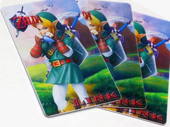 Link Ocarina Of Time Breath Of The Wild Zelda Amiibo Card