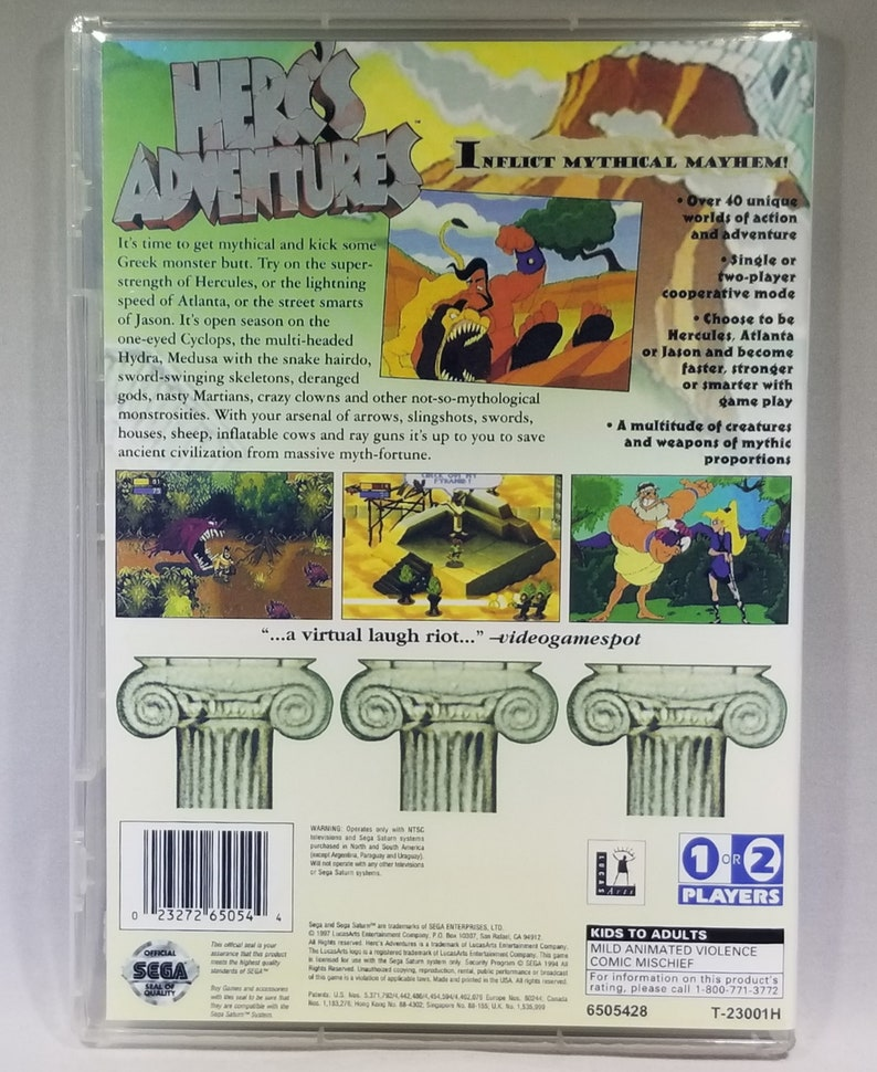 Herc's Adventures Reproduction for Sega Saturn -- Disc -- Case -- Cover --