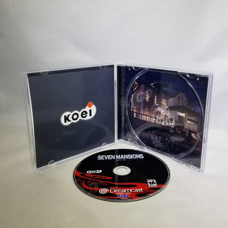 Case Seven Mansions English Translation for Sega Dreamcast --Disc Insert Cover --