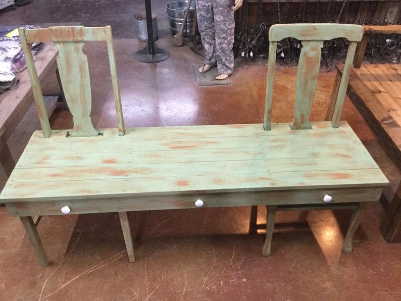 Concealment Bench ~Gun Hide~ Reclaimed Chairs~