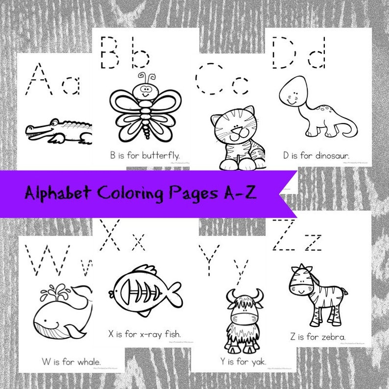 Alphabet Coloring Book Preschool Workbook Preschool | Etsy