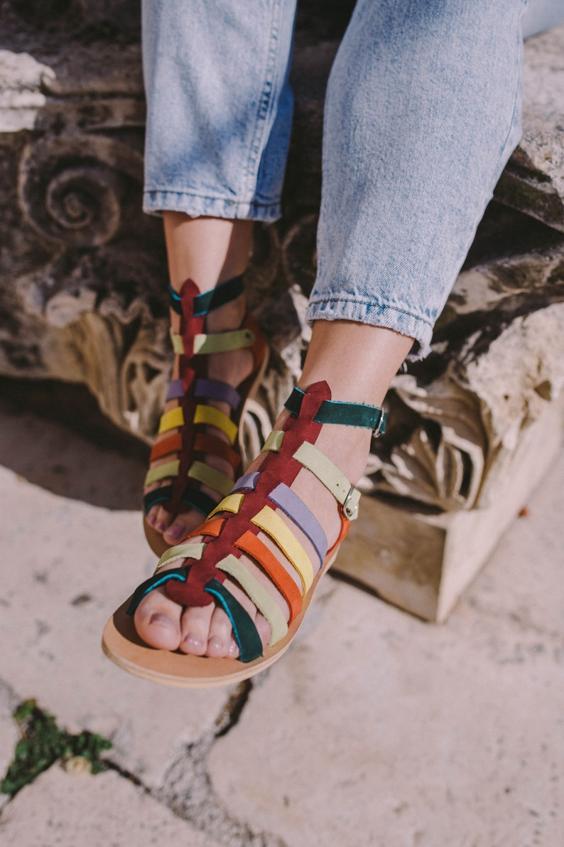 6eb187888 Lace up sandals Gladiator shoes  Summer sandals  Strappy