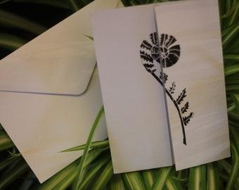 Hand Printed Nautulis Gatefold Cards