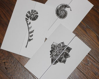 Hand Printed Variety Pack Gatefold Cards