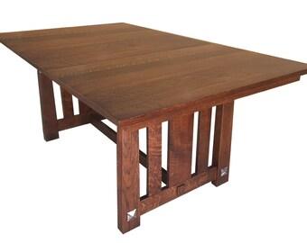 Encada Mission Dining Table Quartersawn White Oak