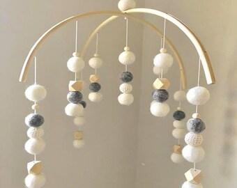 White, Warm Grey, Beige Crochet & Raw Hex Mobile