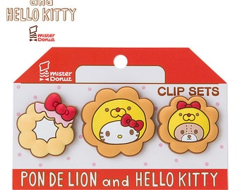 Japan Sanrio Hello Kitty x Pon de Lion Paper Clip 3pcs