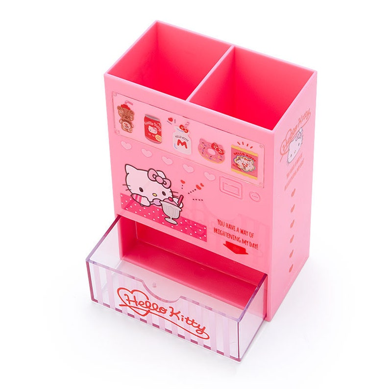 Japan Sanrio Hello Kitty  My Melody  Cinnamoroll  Kuromi Pen Holder Stationery Stand Vending Machine