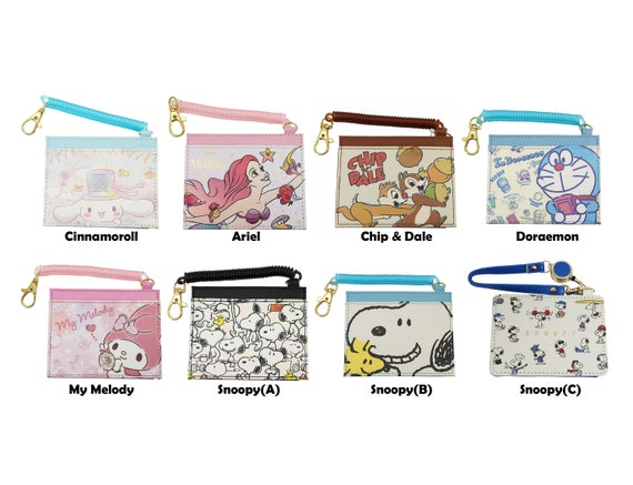 Japan Little Mermaid Ariel  Snoopy Card Holder Card Case