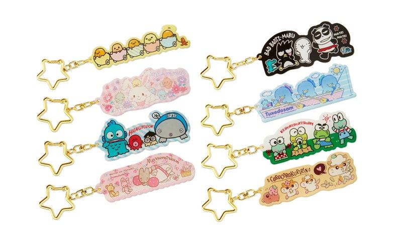 Japan Sanrio Hello Kitty  My Melody  Keroppi  Cinnamoroll  Kuromi  Tuxedo Sam  Pompompurin  Marron Cream Pencil Case  Pen Pouch