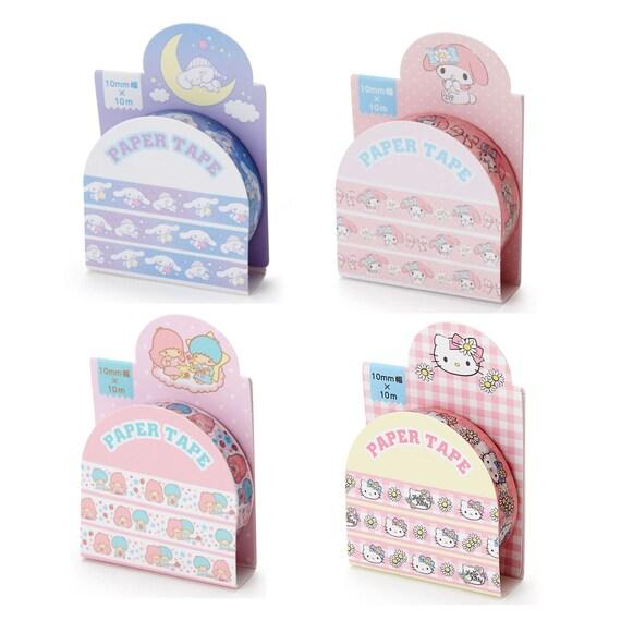Japan My Melody Twin Stars Cinnamoroll Doraemon Snoopy 10mm x 10m Paper Tape