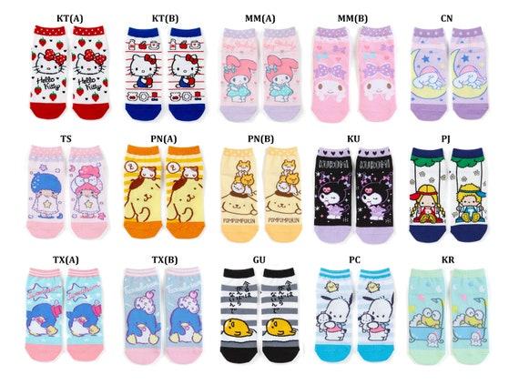Japan Sanrio Little Twin Stars  Pompompurin  Hello Kitty  My Melody  Cinnamoroll  Kuromi  Pochacco  Tuxedo Sam  Keroppi Ankle Socks