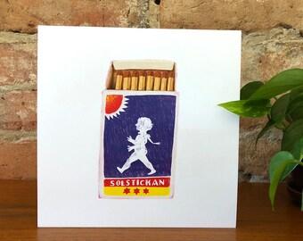Solstickan matches - poster - art
