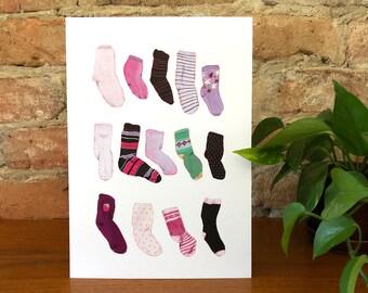 Left Socks - Artwork -Print -Art