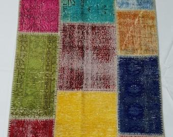 Vintage Patchwork Rug No : 12898