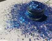 Azurite 50 50 BIODEGRADABLE COMPOSTABLE GLITTER mix chunky plant-based eco glitter aloe