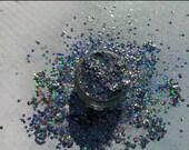 Holographic Silver Zodiac Compostable GLITTER fine to chunky plant-based eco glitter aloe