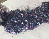 Bismuth 50 50 BIODEGRADABLE COMPOSTABLE GLITTER mix fine to chunky plant-based eco glitter aloe