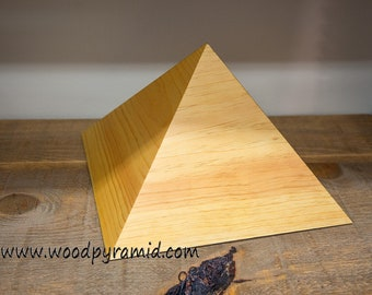 Giza Pyramid - Solid Wood - 12.5 inch - side slope 51.8deg