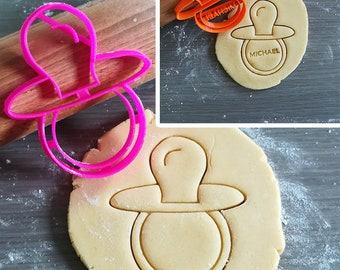 Dummy, Pacifier Cookie Cutter with option to personalize