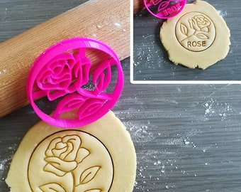 Rose, Flower Cookie Cutter with option to personalize