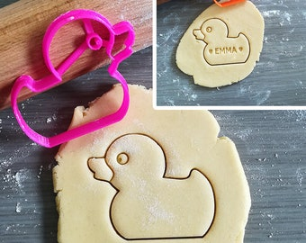 Rubber Duck Cookie Cutter with option to personalize