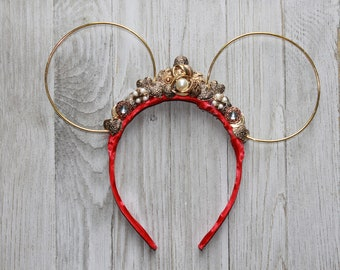 Wire Tiara Mouse Ears, Minnie Mouse Ears, minnie ears, princess minnie ears, unique Mouse ears, headband, tiara, minnie mouse ears headband