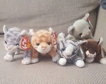 TY Beanie Babies Cats Collection
