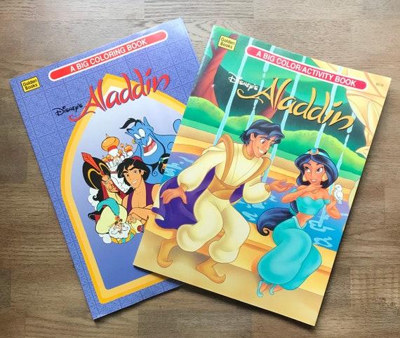 2 Aladdin Big Coloring Books 1992 and 1994 Disney | Etsy
