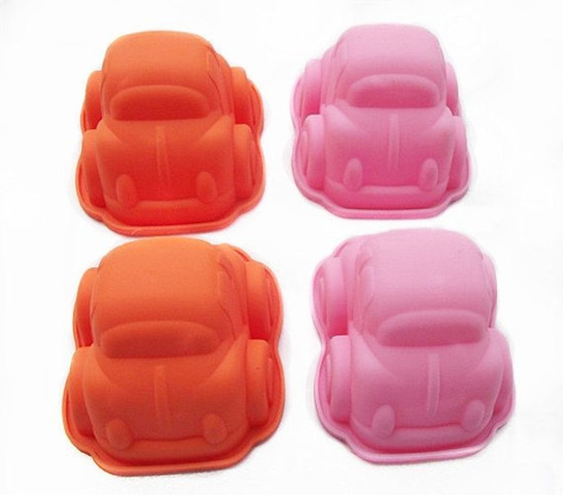 2 Pcs 3D Car soap mold Silicone Mold polymer clay mold Cake Mold Chocolate Mould Resin Mold Biscuit Mold mould fimo mold Cookie Mold