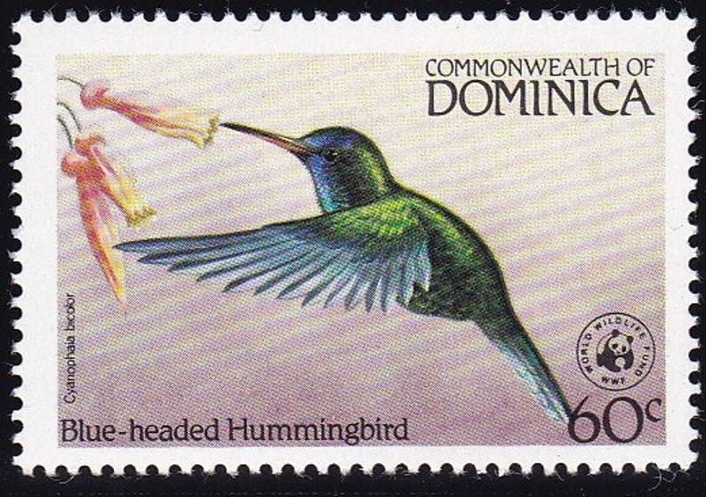 Antigua Stamps Bird Hummingbird And Imperial Parrot Caribbean