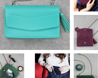 Ladies Leather Evening Clutch Purse with Strap for Women | Amazing Fashion Clutch Bag