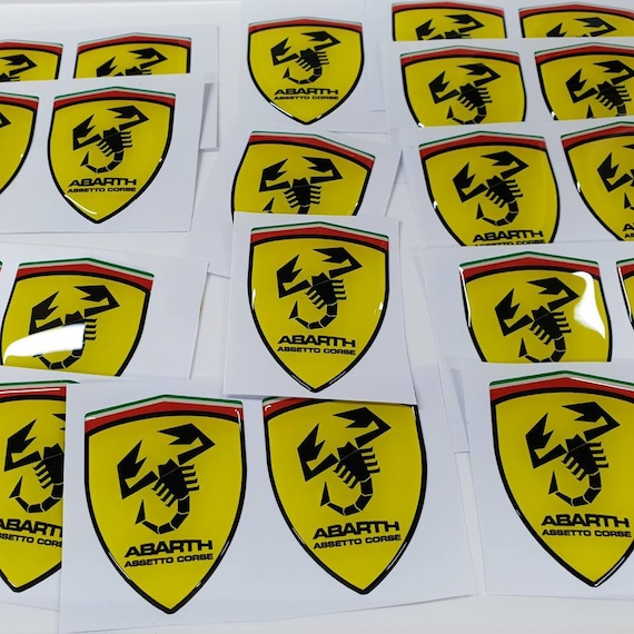 2x Lowered car outline stickers for Fiat 5002007-present