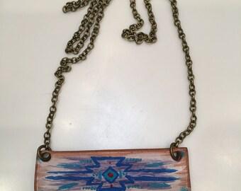 Aztec painted necklace