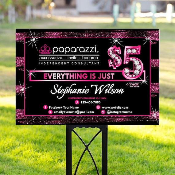 Paparazzi Yard Sign Paparazzi Shop Banner Paparazzi Pop Up Etsy