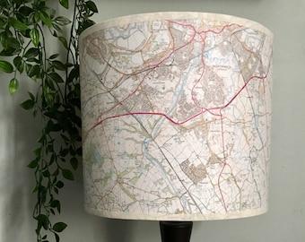 Bespoke Handmade Map lampshade