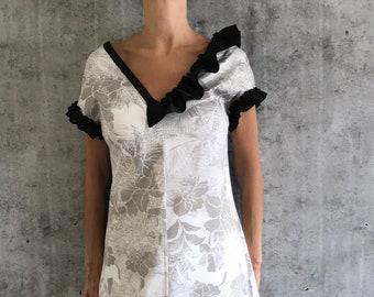 White long summer  cotton dress