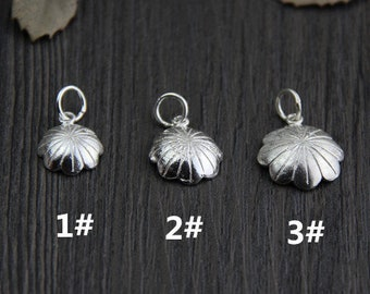 5 Sterling Silver Lotus Leaf Pendant,DIY Hand Chain Pendant,,Handmade Silver Jewelry