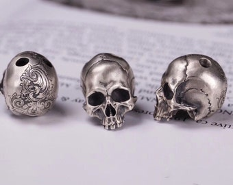 1-10mm Sterling Silver Skull Charm Skulls Gothic Jewelry Skull Jewelry Skull Bracelet Charms for Skull Bracelets BS17-0128