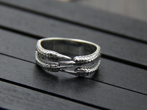 Sterling Silver Dragon Claw Ring,Silver Ring Men,Adjustable Ring,Open Ring,Band Ring,Vintage Ring,Gift For Boyfriend