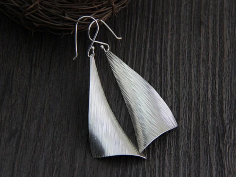 Dangle Earrings,Simple Silver Earrings Handmade,Silver Jewelry Sterling Silver Geometry Earrings,Drop Earrings