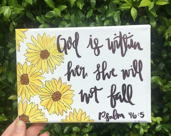 God Is Within Her She Will Not Fall Canvas