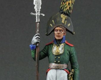 Painted NAPOLEONIC WARS Officer 92nd Gordon Rgt Metal Tin Figure 1//32