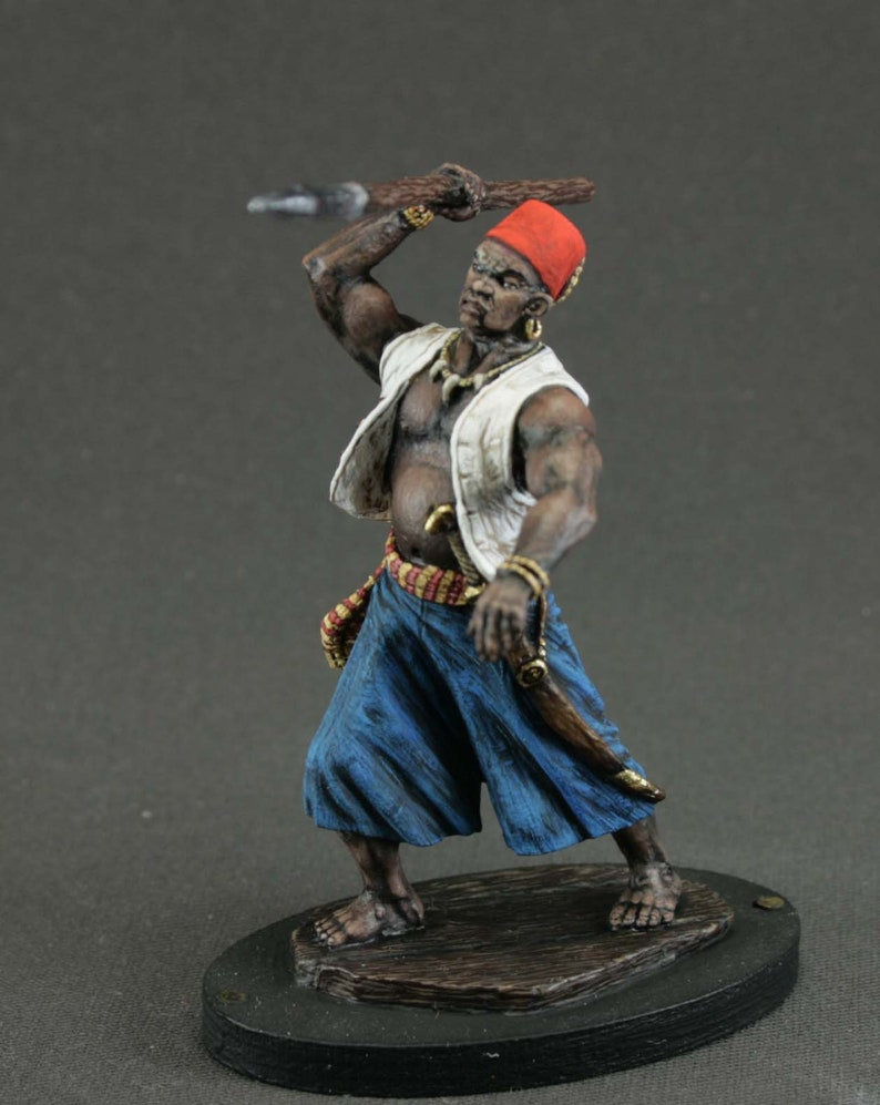 Pirate Woman Figures Medieval 1//32 Female with Saber Tin Toy Soldiers 54mm