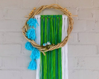 Blue Bird Wall Hanging