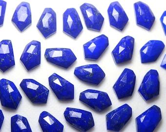 25-30 mm Size Top Drilled. Bright Blue Color Lapis Fancy Surface Cut Drops Pair