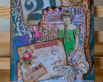 Configurations Mixed media Greetings Cards