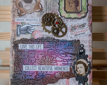 Mixed media altered configurations hinged box